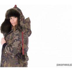 Militarna czapka zimowa. Fioletowe czapki zimowe damskie marki Reserved. Za 180,00 zł.