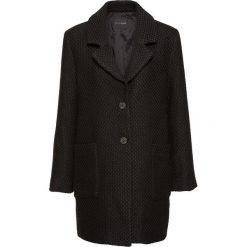 Płaszcz boucle w kratę bonprix czarny. Czarne płaszcze damskie marki bonprix, klasyczne. Za 109,99 zł.