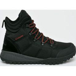 Columbia - Obuwie BM2806. Brązowe buty trekkingowe męskie Columbia, z materiału, na sznurówki, outdoorowe. W wyprzedaży za 399,90 zł.