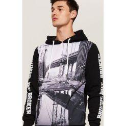 Bluza z fotonadrukiem - Czarny. Czarne bluzy męskie rozpinane marki House, l. Za 119,99 zł.