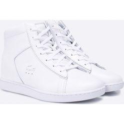 Lacoste - Buty. Szare buty sportowe damskie Lacoste, z materiału. W wyprzedaży za 379,90 zł.