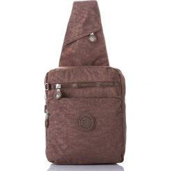 Plecaki męskie: Plecak na jedno ramię Nylonowy Sportowy Brąz