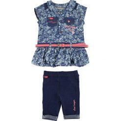 Spodnie niemowlęce: 2-częściowy zestaw w kolorze granatowo-niebieskim