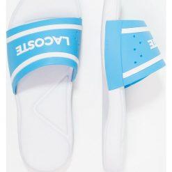 Lacoste Sandały kąpielowe blue/white. Niebieskie sandały chłopięce Lacoste, z materiału. Za 129,00 zł.