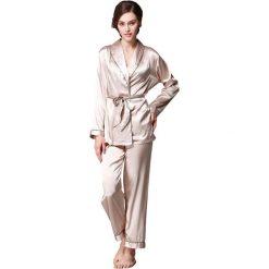 Piżamy damskie: 2-częściowa piżama w kolorze brązowym
