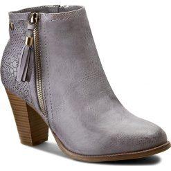 Botki JENNY FAIRY - WS599-36 Szary. Fioletowe buty zimowe damskie Jenny Fairy, z materiału, na obcasie. Za 119,99 zł.