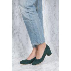 NA-KD Shoes Czółenka z wycinanymi brzegami - Green - 2