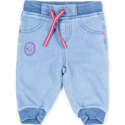 Spodnie. Niebieskie chinosy chłopięce CATRONAUTA, z bawełny. Za 49,90 zł.