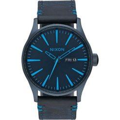 Zegarki męskie: Zegarek męski All Dark Blue Nixon Sentry Leather A1052224