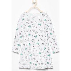 Sukienki niemowlęce: Bawełniana sukienka z nadrukiem – Jasny szar