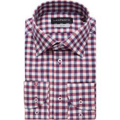 Koszule męskie na spinki: Koszula Bordowa Flanelowa Tristan