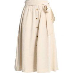Spódniczki trapezowe: Springfield FALDA MIDI CINTUR Spódnica trapezowa beige/roasted