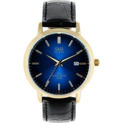 Zegarek Q&Q Męski QZ06-102 Klasyczny Gold & Blue. Niebieskie zegarki męskie Q&Q. Za 152,10 zł.