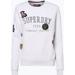 Superdry - Damska bluza nierozpinana, szary. Szare bluzy damskie marki Superdry, xl, z aplikacjami. Za 179,95 zł.