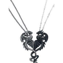 Naszyjniki damskie: Alchemy Gothic Draconic Tryst Naszyjnik czarny/odcienie srebrnego