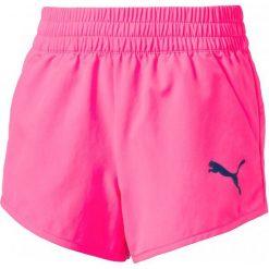 Puma Spodenki Sportowe Active Dry Ess Wovenshortsg Ko Pin. Różowe spodenki dziewczęce Puma, na lato, z tkaniny, sportowe. W wyprzedaży za 59,00 zł.