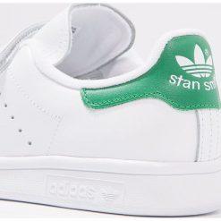 Adidas Originals STAN SMITH  Tenisówki i Trampki blanc/vert. Szare tenisówki damskie marki adidas Originals, z gumy. Za 389,00 zł.