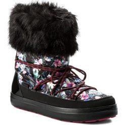 Śniegowce CROCS - Lodgepoint Graphic Lace Boot 204791 Tropical/Black. Czarne buty zimowe damskie marki Crocs, z materiału, na niskim obcasie. W wyprzedaży za 259,00 zł.