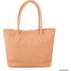 Shopper City Brzoskwinia. Różowe shopper bag damskie Pakamera, ze skóry, na ramię. Za 580,00 zł.