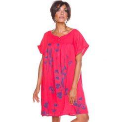 """Sukienki hiszpanki: Lniana sukienka """"Suzy"""" w kolorze fuksji"""