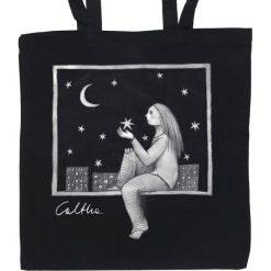 Okno - torba (2 kolory). Czarne shopper bag damskie Pakamera, z materiału. Za 69,00 zł.
