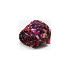 KRAWAT PIĘKNE ANIOŁY. Brązowe krawaty męskie marki Marthu, w kolorowe wzory, z satyny. Za 129,00 zł.