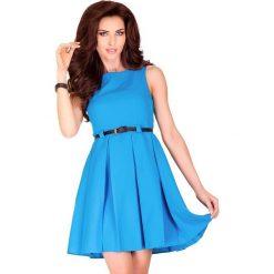 Sukienki: Klara SUKIENKA KONTRAFAŁDA – niebieski