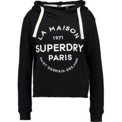 Bluzy damskie: Superdry APPLIQUE CROP HOOD Bluza z kapturem black