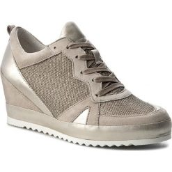 Sneakersy GABOR - 62.675.14 Argento/Muschel. Brązowe sneakersy damskie Gabor, z materiału. W wyprzedaży za 389,00 zł.