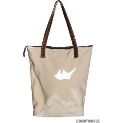 Torebka Neon beżowa z brązem. Brązowe torebki klasyczne damskie N/A, z tkaniny. Za 200,00 zł.