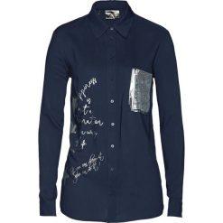 Długa bluzka bonprix ciemnoniebieski. Niebieskie bluzki asymetryczne bonprix, z długim rękawem. Za 99,99 zł.
