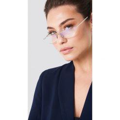 Okulary przeciwsłoneczne damskie: NA-KD Urban Trapezowe okulary przeciwsłoneczne – Silver