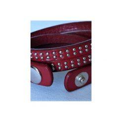 Bransoletka Red Leather. Brązowe bransoletki damskie na nogę Moderntime, ze stali. Za 39,90 zł.