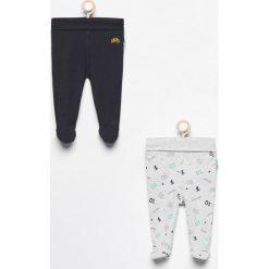 Odzież niemowlęca: Spodnie ze stópkami 2 pack - Granatowy