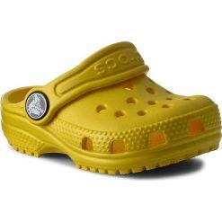 Klapki CROCS - Classic Clog K 204536 Lemon. Żółte klapki chłopięce marki Crocs, z tworzywa sztucznego. Za 119,00 zł.