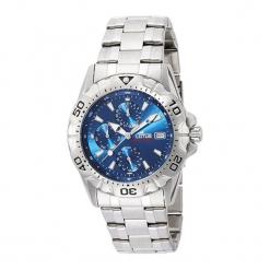 """Zegarek """"15301/2"""" w kolorze srebrno-niebieskim. Niebieskie, analogowe zegarki męskie NIXON & ESPRIT, ze stali. W wyprzedaży za 319,95 zł."""