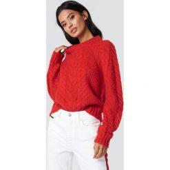 Swetry klasyczne damskie: Samsoe & Samsoe Sweter Carola O-N - Red