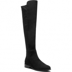 Kozaki SAGAN - 3263 Czarny Welur/Laykra. Czarne buty zimowe damskie Sagan, z lycry, przed kolano, na wysokim obcasie. Za 479,00 zł.