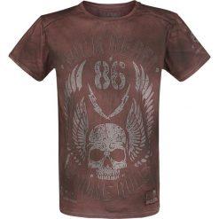 T-shirty męskie: Rock Rebel by EMP Rebel Soul T-Shirt bordowy