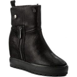Botki ARMANI JEANS - 925260 7A657 00020 Nero. Czarne botki damskie skórzane marki Armani Jeans. W wyprzedaży za 719,00 zł.