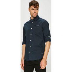 Jack & Jones - Koszula. Czarne koszule męskie na spinki Jack & Jones, l, z bawełny, z klasycznym kołnierzykiem, z długim rękawem. W wyprzedaży za 139,90 zł.