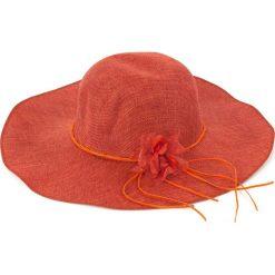 Kapelusz damski Floral dream pomarańczowy. Brązowe kapelusze damskie Art of Polo. Za 23,26 zł.