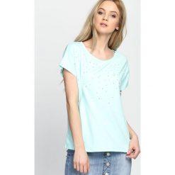 T-shirty damskie: Miętowa Bluzka Gravity