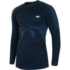 Odzież termoaktywna męska: Bielizna bezszwowa męska (góra) BIMB200G – niebieski melanż – 4F