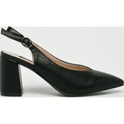 Answear - Sandały Vices. Szare sandały damskie marki ANSWEAR, z materiału, na szpilce. W wyprzedaży za 89,90 zł.