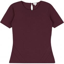Sweter kaszmirowy w kolorze śliwkowym. Brązowe swetry klasyczne damskie marki Ateliers de la Maille, z kaszmiru, z okrągłym kołnierzem. W wyprzedaży za 318,95 zł.