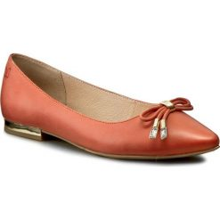 Baleriny damskie lakierowane: Baleriny CAPRICE – 9-22112-28 Orange Nubuck 611