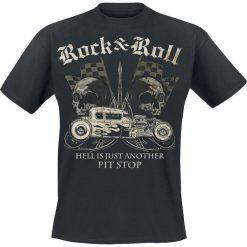 T-shirty męskie z nadrukiem: Hell Is Just Another Pit Stop T-Shirt czarny