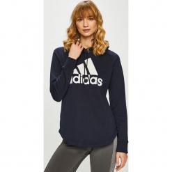 Adidas Performance - Bluza. Czarne bluzy z kapturem damskie marki adidas Performance, l, z nadrukiem, z bawełny. Za 249,90 zł.
