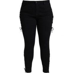 Rurki damskie: Simply Be CHLOE LACEUP Jeans Skinny Fit black